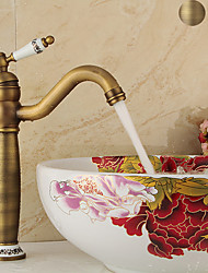 cheap -Bathroom Sink Faucet - Single Antique Copper / Electroplated Centerset Single Handle One HoleBath Taps