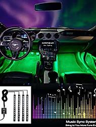 cheap -car interior lights, truck lights interior lighting kits, 8 colors 4 pcs 48 led multi color car led strip lights, new app control under dash lighting kit dc 12v