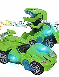 cheap -transformers toys for 3-6 year old boys dinosaur toys with led light and music dinosaur car gifts for 4 5 6 7 year olds (green) by huwairen