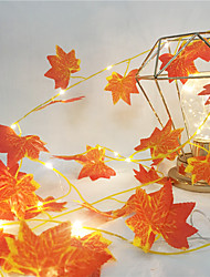 cheap -1X 2M 20Leds Lights Maple Leaves Garland Led Fairy String Light For Christmas New Year Party Decoration Autumn String Light DIY Decor Lighting AA Battery Power (come without battery)
