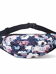 cheap -large size fanny pack, soft waist pack single shoulder bag for man women running shopping adjustable strap carrying all kind phones (blue-gray scrawl)