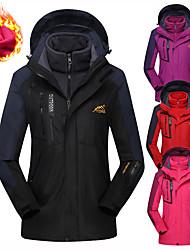 cheap -Women's Hoodie Jacket Hiking Jacket Hiking 3-in-1 Jackets Winter Outdoor Thermal Warm Waterproof Windproof Breathable Jacket 3-in-1 Jacket Winter Jacket Fleece Waterproof Rain Proof Full Length