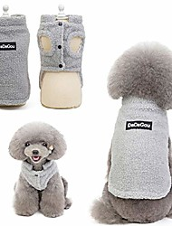 cheap -pet doggy winter lamb cashmere coat warm outdoor fleece dog fleece lining pullover jacket vest for small medium dogs (s, grey)