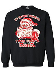 cheap -it's the most wonderful time for a beer crewnecks christmas sweatshirts 3xl black 13441