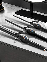 cheap -Curling Irons Rods LCD Digital Display Water Ripple Band Clip Curler Hair Salon Styling Curling Iron