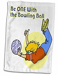 cheap -3d rose funny one with the bowling ball design hand/sports towel, 15 x 22