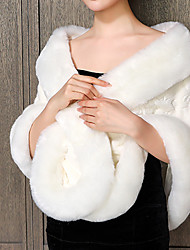 cheap -Sleeveless Capes Acrylic / Wool Blends Wedding / Party / Evening Shawl & Wrap With Solid
