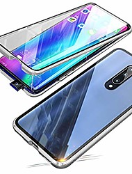 cheap -compatible with xiaomi mi 9t / 9t pro (6.39 inch) case,  360 degree front and back transparent tempered glass cover, strong magnetic adsorption technology metal bumper (silver)