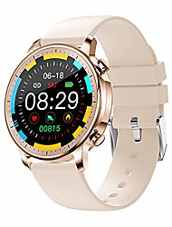 cheap -Smart Watch for Women Men,Waterproof Smartwatch with Heart Rate and Blood Pressure Monitor,Bluetooth Fitness Tracker Compatible with iPhone Andriod,Best Present for Couples (Gold)