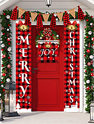 cheap -Christmas Toys Christmas Decorations Wall Decals Merry Christmas Waterproof Removable Party Favor PVC 1 pcs Adults Kids 35.3*15.5cm Christmas Party Favors Supplies
