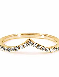 cheap -chevron cz simulated diamond stackable wedding ring band for women, pairable with engagement rings, love ring in 18k rose gold, 18k yellow gold & rhodium plating, size 5-10