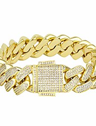 cheap -cuban link bracelet, iced out bracelet for men, prong-setting 5a cz stones, durable street-wear hip hop jewelry, 18mm cuban link chain 7 8 9 inches