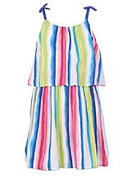 cheap -girls' spaghetti strap fashion dress bright pink 5
