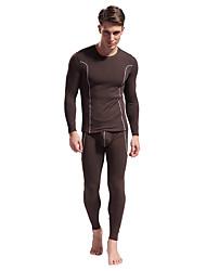 cheap -men's thermal underwear fleece lined performance fleece tactical sports shapewear thermal set (black01, xx-large)