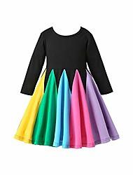 cheap -Kid's Child's Kids Child Dress Blushing Pink Black Multi Color Cotton