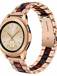 cheap -compatible galaxy watch 42mm band women,20mm rose gold stainless steel strap with tortoise resin bracelet replacement samsung galaxy watch 42mm sm-r810/gear s2 classic sm-r732/r735 smartwatch