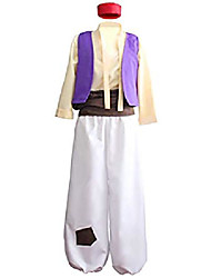 cheap -mens arab prince costume fairy tale suits halloween cosplay party hat (xl) purple