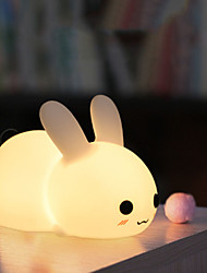 cheap -Oval Shape Decoration Light 3D Nightlight LED Night Light Night Light Touch Sensor Color-Changing Birthday Touch Halloween Christmas Batteries Powered USB 1pc