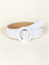 cheap -Women's Waist Belt Party Street Dailywear Daily White Belt Pure Color Work Basic Fall Winter Spring