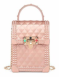 cheap -rivet jelly handbag small crossbody women shoulder bags (pink)