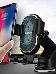 cheap -Remax RM-C37 Wireless Car Fast Charger Mount Magnetic Sensor Automatic Clamp Type C Mobile Phone Car Stand Quick Charger Suction cup mounted Holder Bracket