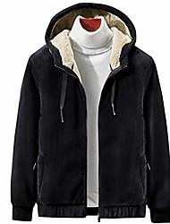 cheap -men's casual sherpa lined full zip up hoodies fleece sweatshirt winter warm jacket black m
