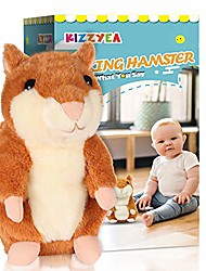 cheap -bigger talking hamster - repeats what you say - interactive stuffed plush animal talking toy - fun gift for 2,3 year old girls,baby, kids, toddlers
