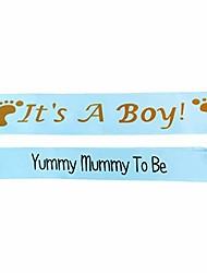 Недорогие -это девочка, детская лента, это мальчик, детская лента для душа b01 (2 шт. -синяя мумия, чтобы быть)
