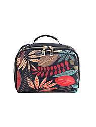 cheap -Women's Bags Oxford Cloth Toiletry Bag Cosmetic Bag Makeup Zipper Floral Print 2021 Daily Black / White Black Red