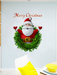 cheap -Christmas Wall Stickers Living Room, Removable PVC Home Decoration Wall Decal 1pc