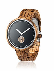 cheap -wooden watch for men - 100% natural sandalwood case - gift box eco-friendly - unique watches for men