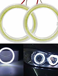 cheap -1-pair white 110mm 81smd cob led halo ring angel eyes led headlight with lampshade cover 12v 24v (110mm, white)