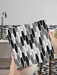 cheap -Imitation Epoxy Tile Sticker Color Mosaic Black and White Tile Wall Sticker House Renovation DIY Self-adhesive PVC Wallpaper Painting Kitchen Waterproof and Oilproof Wall Sticker