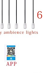 cheap -1 Set Car Environmental Atmosphere Bulb Light RGB Multiple Modes App Sound Control Auto Interior Decorative LED Light Bar 1 For 6