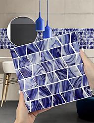 cheap -Imitation Epoxy Tile Sticker Purple Blue Mosaic Water Corrugated Wall Sticker House Renovation DIY Self-adhesive PVC Wallpaper Painting Kitchen Waterproof and Oilproof Wall Sticker