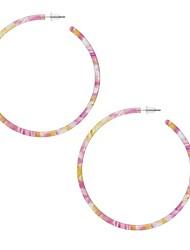 cheap -multi color mottled tortoise shell acrylic resin basic big circlee hoop earrings