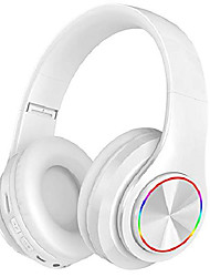 cheap -Bluetooth Headphones Over Ear with Deep Bass B39 LED Light Up Wireless Foldable Hi-Fi Stereo Headphones Bluetooth 5.0 Built in Microphone Wired and Wireless Headset for Smart Phone/TV/PC/iPad