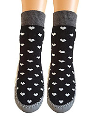cheap -marilyn girls non skid slipper socks leather sole moccasin (9 & 10 us (3t-4t), hearts)