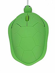 cheap -usb wired mouse creative 3d cute animal turtle shaped optical mice corded kids mini mouse 1200dpi for pc laptop computer (green)