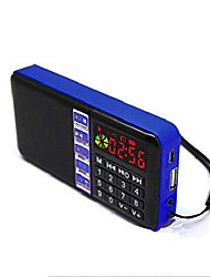 cheap -sd-111 portable fm radio time display clock support usb disk/micro sd/tf card mp3 player digital speakers (blue)