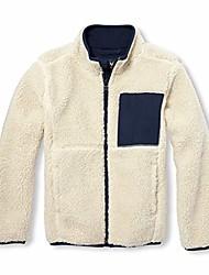 cheap -big boys' kid sherpa jacket, brown rice, xxl(16)