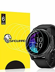 cheap -[6 pack]  screen protector compatible with garmin venu screen protectors smartwatch hd liquidskin film