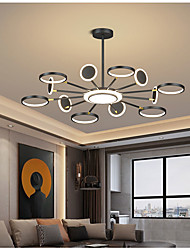 cheap -6/8/12 Heads LED Chandelier Nordic Modern Luxury Pendant Light Black Gold Tricolor Light Circle Design Metal Painted Finishes Christmas Decoration 110-120V 220-240V