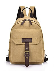 cheap -Unisex Bags Canvas Sling Shoulder Bag Chest Bag Zipper Daily Outdoor Black Khaki Coffee