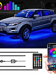 cheap -car underglow lights,  under car led lights 16 million colors neon accent lights kit,car led strip lights sync to music and app control,dc 12v(underglow car lights)