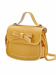 cheap -pu leather little girls cross body shoulder bag – small purse cute bowknot messenger snack bag handbag for 1-5 years old kids, toddler, girls (yellow)