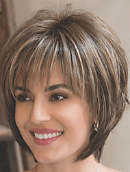 cheap -Synthetic Wig kinky Straight Pixie Cut Wig Blonde Short Brown Blonde Synthetic Hair Women's Fashionable Design Exquisite Comfy Blonde Brown