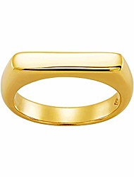 cheap -'big idea' flat top ring in 18k gold-plated sterling silver, size 9