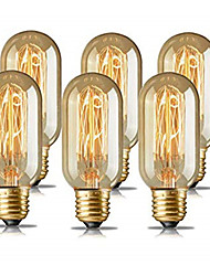 cheap -6pcs 4pcs 40W E26 E27 T45 Warm Yellow 1400-2800 k Retro Dimmable  Decorative Incandescent Vintage Edison Light Bulb 220-240 V
