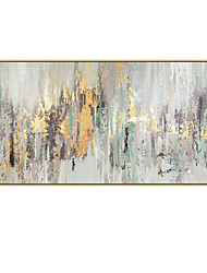 cheap -100% Hand Painted Golden Abstract Painting Modern Art Picture For Living Room Modern Cuadros Canvas Art High Quality Gift